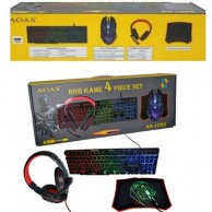 GAMING COMBO AS-1088 AOAS KEYBOARD, MOUSE, HEADSET AND MOUSEPAD