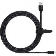 QIHANG Braided USB to Lightning Cable Μαύρο 3m (C21)