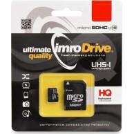 Κάρτα Μνήμης Micro SD + Αντάπτορας IMRO microSDXC 128GB Class 10 UHS-1 (MicroSD10/128GADPUHS)